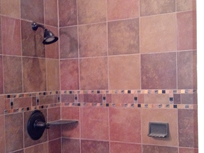 Beautiful Tiled Shower Room